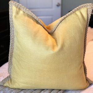 Pottery Barn jute braid linen pillow cover
